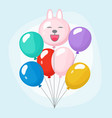 bundle balloons colorful joyful bunch party vector image vector image