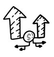 business investation hand drawn icon design vector image