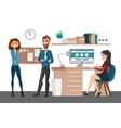 Business professional work team People talking vector image vector image