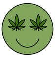 cannabis smile smiling face vector image vector image