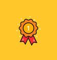 cartoon award medal like 1st icon vector image