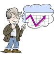 cartoon of a family man who is thinking of a good vector image