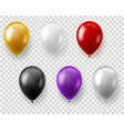 colorful balloons set round balloon flying toys vector image vector image