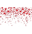Confetti red hearts fall background vector image vector image