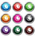 crescent and star set 9 collection vector image vector image