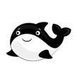 cute orca cartoon marine life animal vector image vector image
