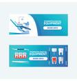dental stomatological equipment set banners vector image