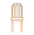 dining room chair icon vector image vector image