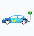 electric car or electric vehicle vector image
