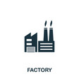 factory icon symbol creative sign from buildings vector image vector image