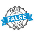 false stamp sign seal vector image vector image