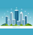 flat smart city and communication network vector image vector image