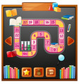 game template with books and shcool items vector image