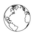 globe icon isolated black and white vector image vector image