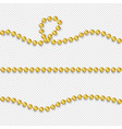 golden beads set realistic gold bead vector image