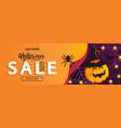 halloween sale horizontal bannercardflyer vector image vector image