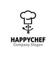 happy chef design vector image vector image