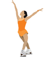 ice skater silhouette vector image vector image