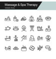massage and spa therapy icons modern line design vector image