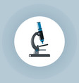 microscope icon on white circle vector image
