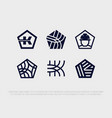 modern professional logo set in building industry vector image