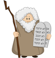 Moses Holding The Ten Commandments vector image vector image