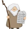 Moses Holding The Ten Commandments vector image