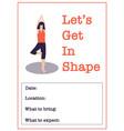 motivational yoga class poster template women vector image