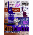 new york usa nyc poster 4th july edition vector image vector image