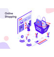 online shopping isometric modern flat design vector image vector image