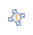 payment exchange line icon dollar sign vector image