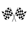 racing checkered flags vector image vector image