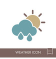 rain cloud sun icon meteorology weather vector image