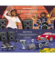 Rap Music Banner Set vector image vector image