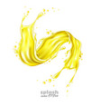 realistic orange pineapple juice splash vector image vector image