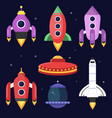 rockets and space shuttles vector image vector image