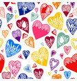 seamless pattern of heart vector image vector image