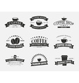 set coffee logo with ribbons vector image