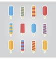 set ice cream vector image
