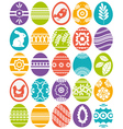 set of colour easter eggs vector image