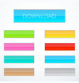set of rectangle buttons vector image