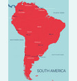 south america continent map vector image vector image