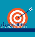 target customer business for marketing people vector image vector image
