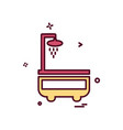 washroom icon design vector image
