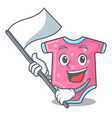 with flag baby wool clothes isolated on mascot vector image