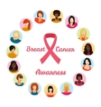 Breast cancer awarness vector image