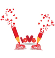 Drawing heart for valentines day vector image