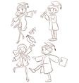 A graduation ceremony vector image vector image