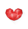 abstract polygon heart geometry design vector image