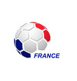 abstract soccer ball with national flag colors vector image vector image